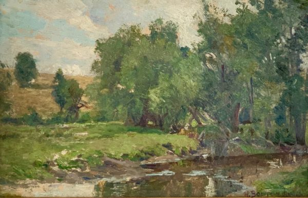 Landscape with Stream by Hugh Bolton Jones