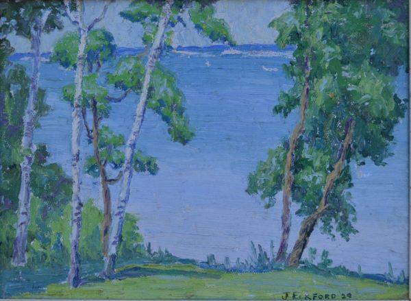Birches on Lake Carlos by Jessie Jo Eckford