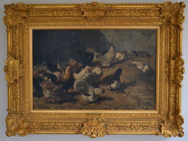 Devant le Poulailler by Charles Emile Jacque