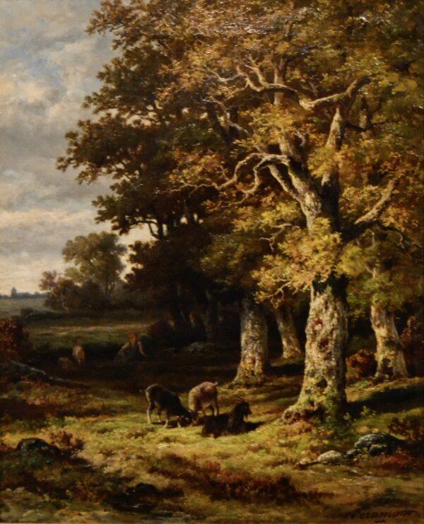 Paysage by Charles Ferdinand Ceramano