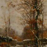 Chasseur dans la Niege by Fernand Lutscher