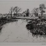 Barn by a River by Robert Hogg Nisbet