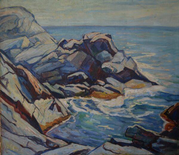 Rocky Maine Coastline by Edgar Hewitt Nye