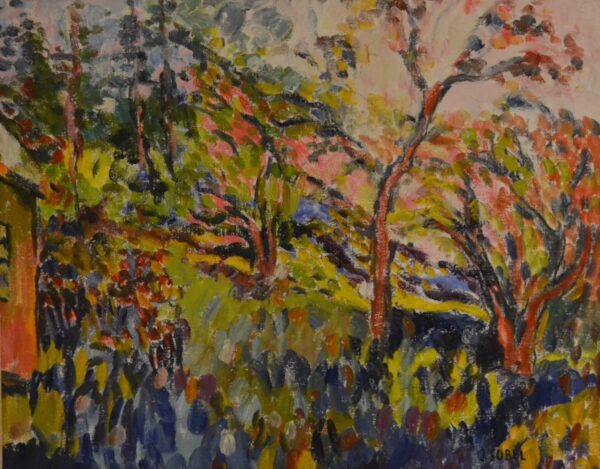 Fauvist Landscape with Trees by Jehudith Sobel