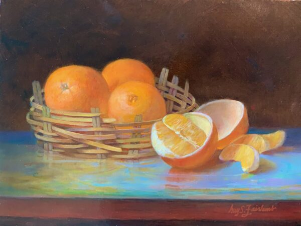 Guy Steele Fairlamb, Still Life with Oranges and Basket