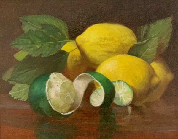 Still Life of Lemons and Lime by Guy Steele Fairlamb