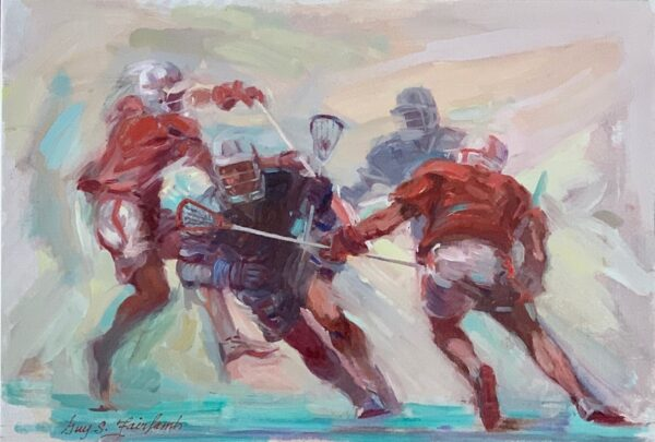 "Guy Fairlamb, ""Lacrosse: Players in Motion"""