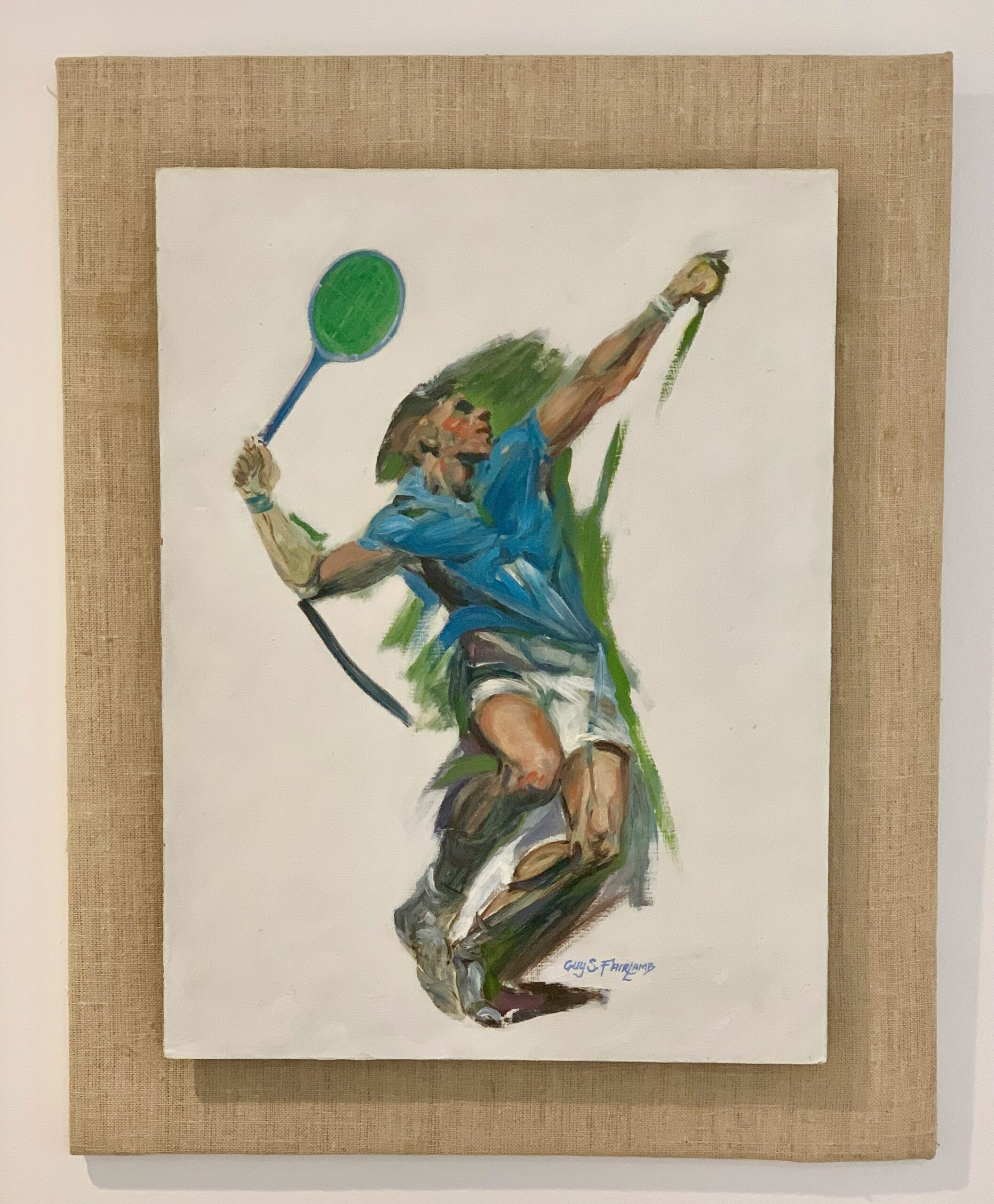 Guy Steele Fairlamb, Tennis: Going for the Ace (frame)