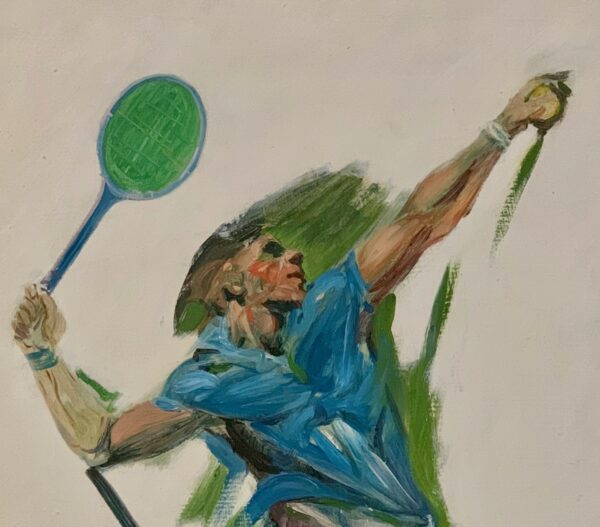 Guy Steele Fairlamb, Tennis: Going for the Ace (detail)
