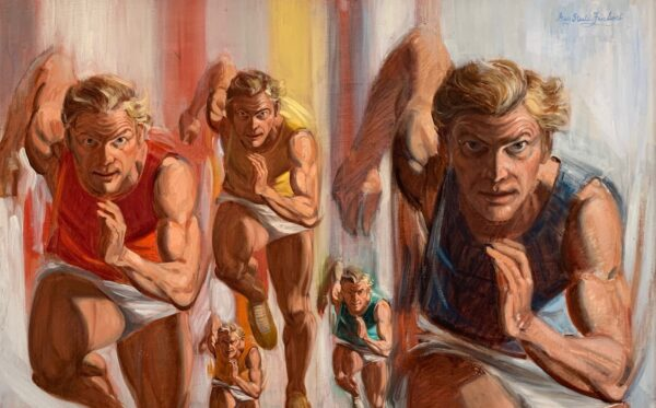 "Guy Fairlamb, ""Man Running Against Himself"""