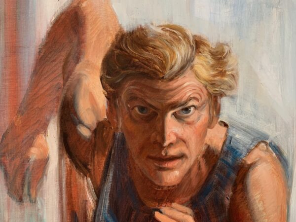 "Guy Fairlamb, ""Man Running Against Himself"" (detail)"