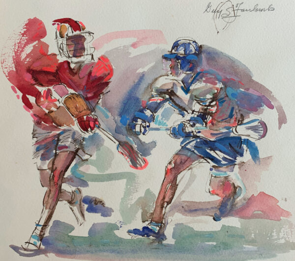 "Guy Steele Fairlamb (Am., b. 1932) ""Lacrosse: Great Pass"""